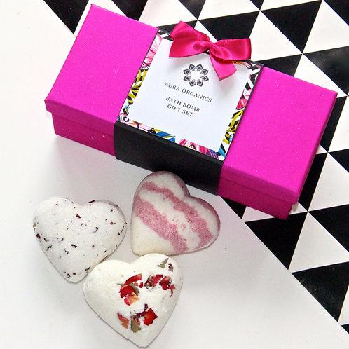 Heart Bath Bomb Gift Set