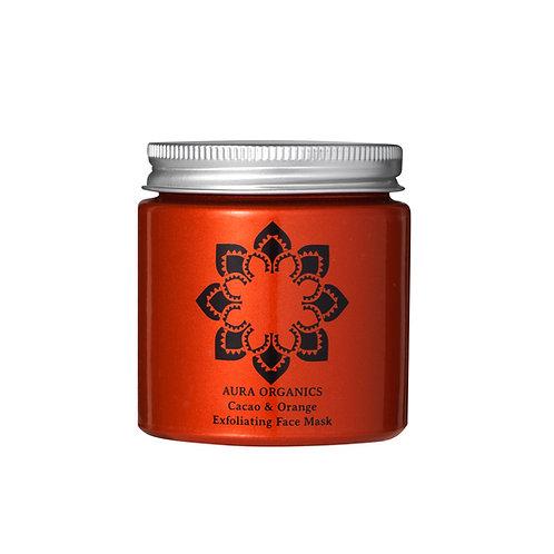 Natural Organic Exfoliating Face Mask Cacao and orange