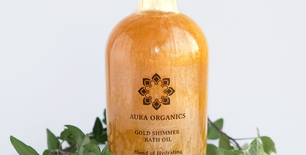 Spiced Vanilla & Rose Gold Shimmer Bath Oil