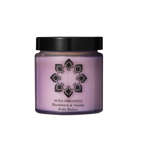 Organic Vegan Natural Body butter blackberry and vanilla