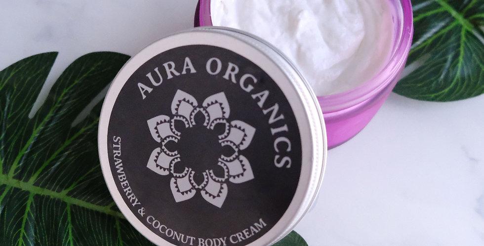 Strawberry & Coconut Body Cream