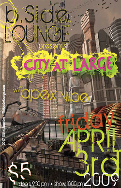 City at Large Concert Poster & Flyer