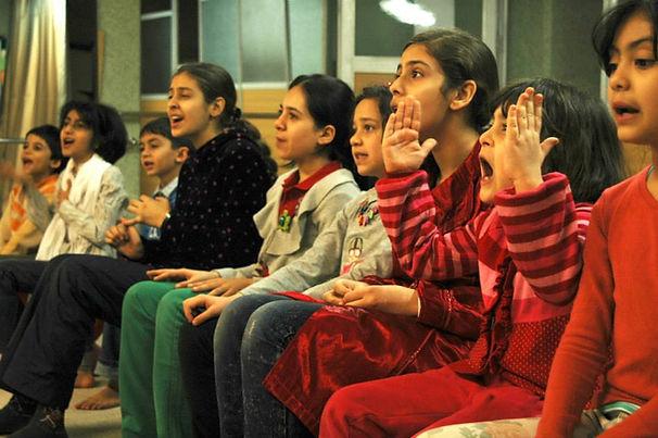Soudabeh students happy singing Iran.jpg
