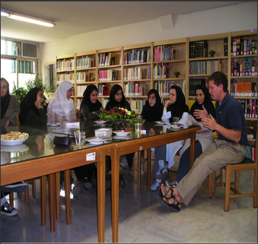 An American teacher and Iranian students  discuss creativity in an age of increasing technology
