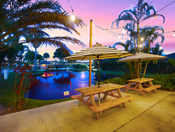Patio at Sunset