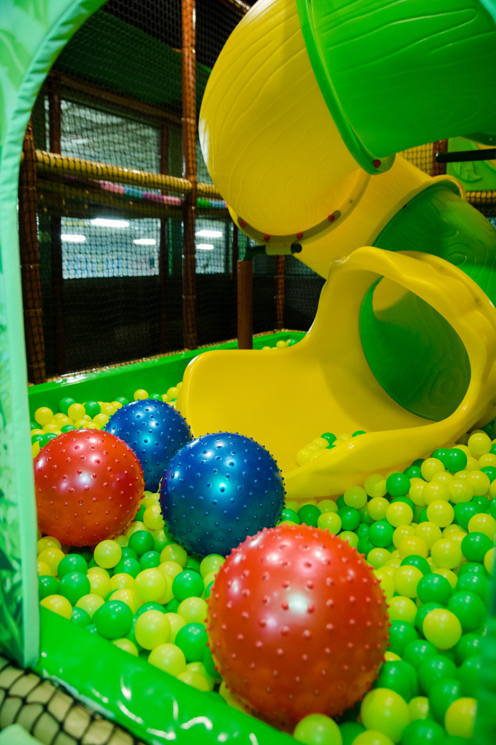 Tunnel Slide and Ball Pit