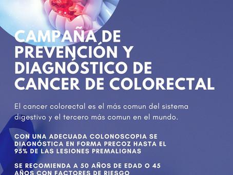 Campaña de prevención y diagnóstico de cancer de colorectal