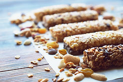 Healthy bars with nuts, seeds and dried