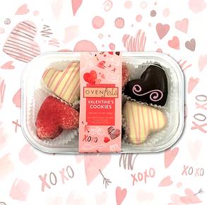 Decorated Mini Valentine's Day Cookies