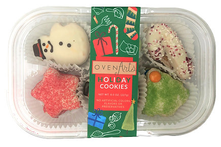 Decorated Mini Holiday Cookies