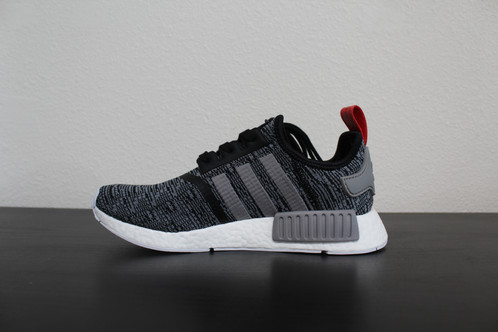 Size 11 Adidas NMD R1 Core Black Gray Red Glitch Camo Pack