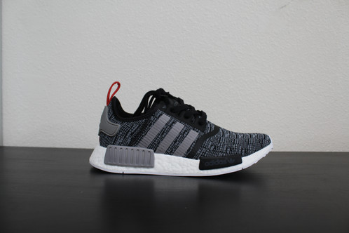 Adidas NMD R1 J Core Black White Mesh US Boys girl GS Youth