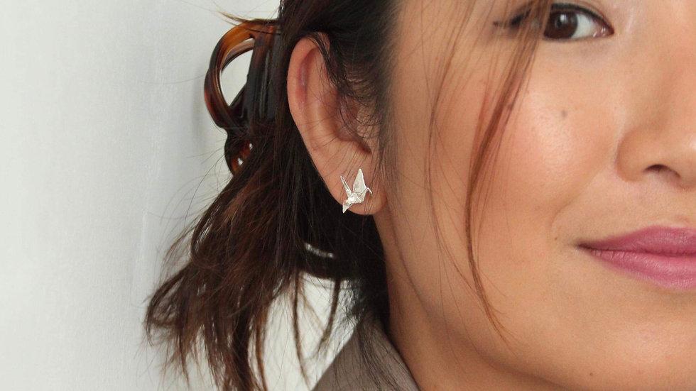 Crane Stud Earrings