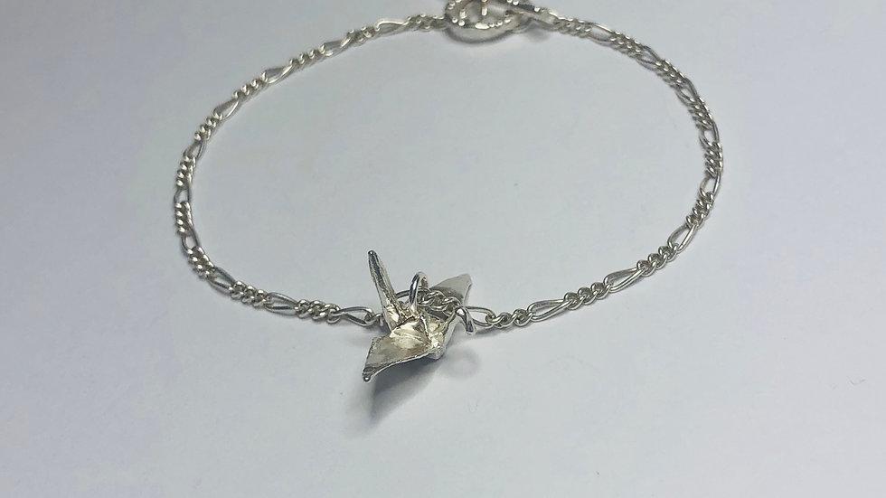 Crane Charm Bracelet