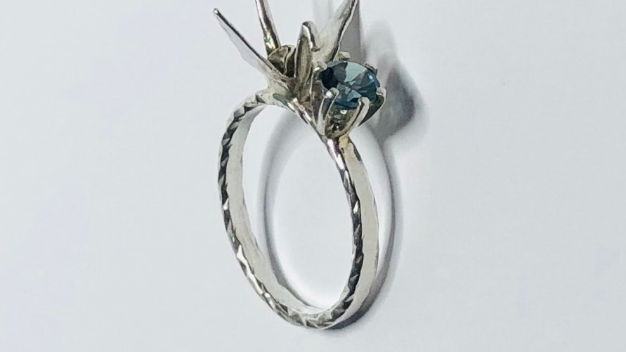 Crane Solitaire Ring