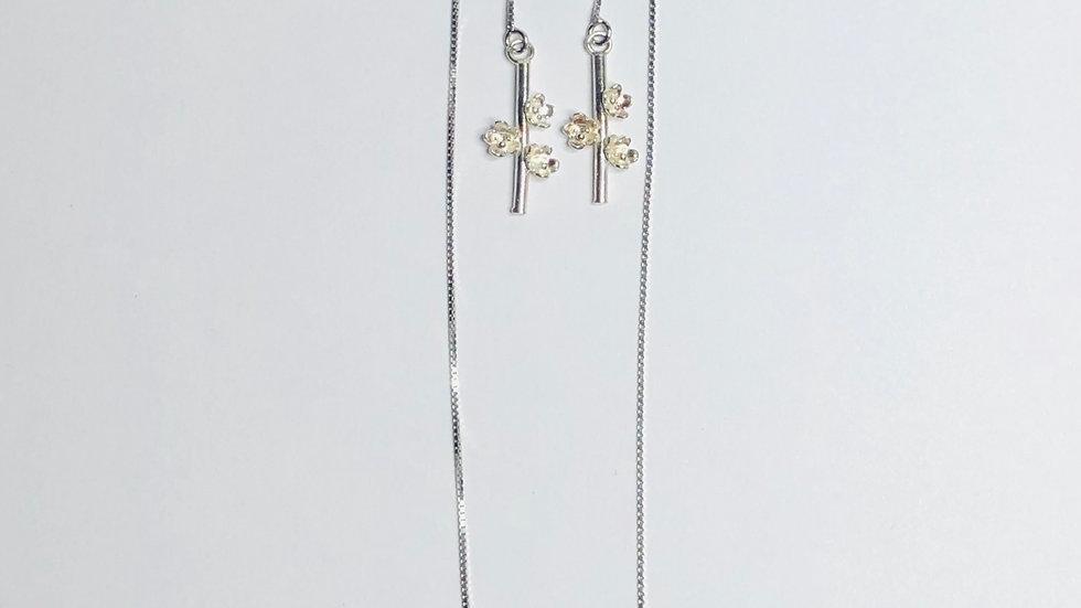 Blossom Twig Thread-Through Earrings