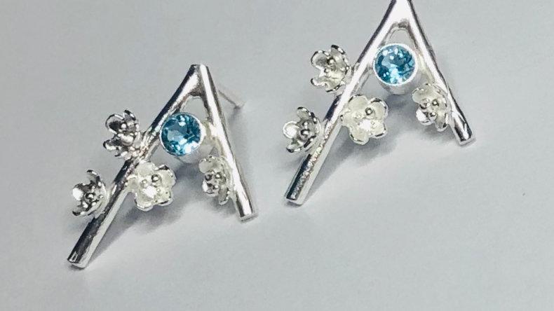 Blossom Gem Set Stud Earrings