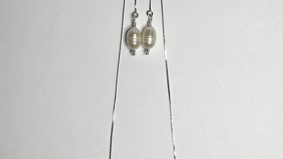 Myrtos Thread-through Earrings