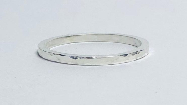 Hammered Sparkle Ring