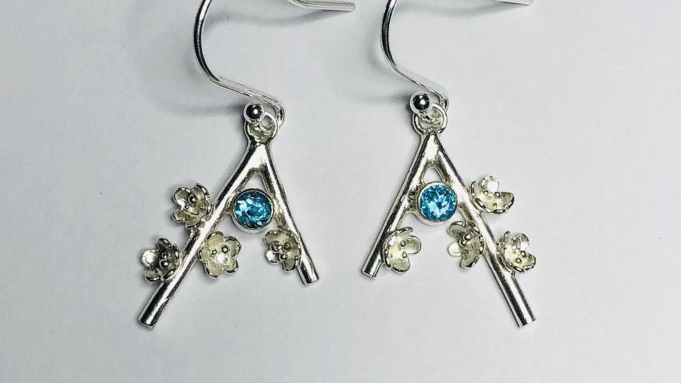 Blossom Gem Set Drop Earrings
