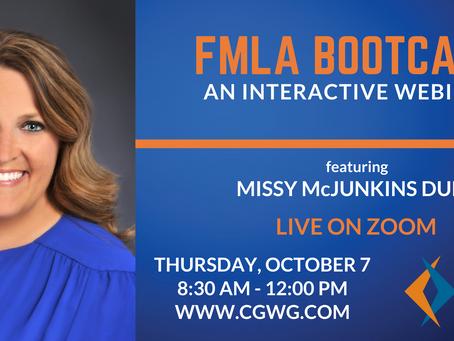 UPCOMING WEBINAR | FMLA Bootcamp (October 07, 2021)
