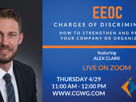 UPCOMING WEBINAR | EEOC Charges of Discrimination (April 29, 2021)