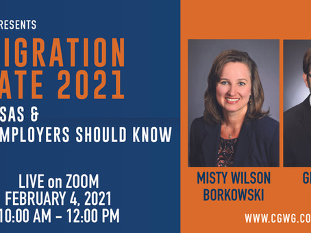 Webinar: Immigration Update 2021H-1B Visas & What Employers Should Know