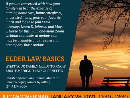 Elder Law Basics: Protect Your Family with this One-Hour Webinar