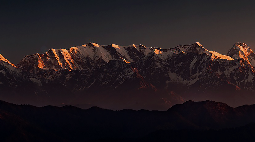 Himalayas in the morning