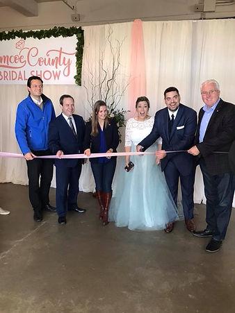 Simcoe County Bridal Show ribbon cutting
