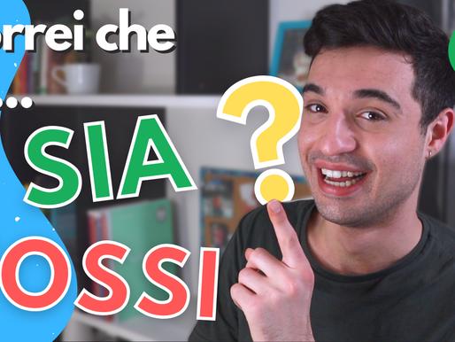Uso del CONGIUNTIVO italiano con il condizionale: vorrei che tu...?