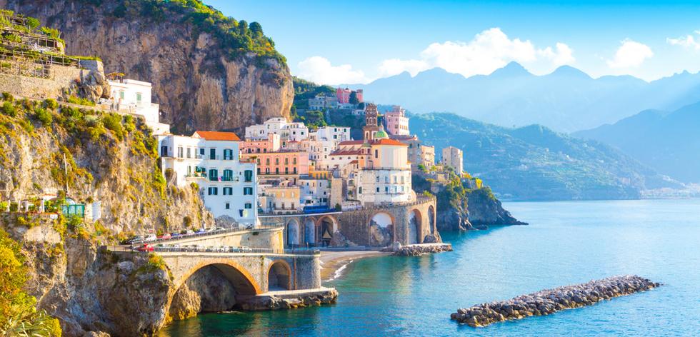 Cinque Terre in Italy on the sea