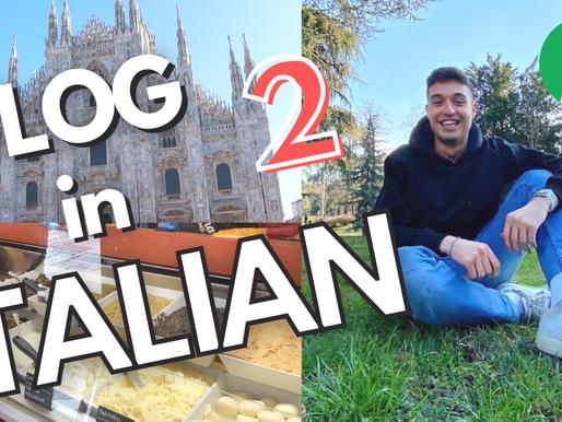 Vlog #2 - Walking in Milan and Eating Schiacciata