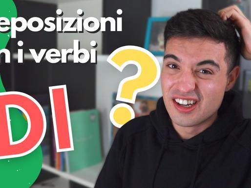 Preposizioni con i verbi in italiano