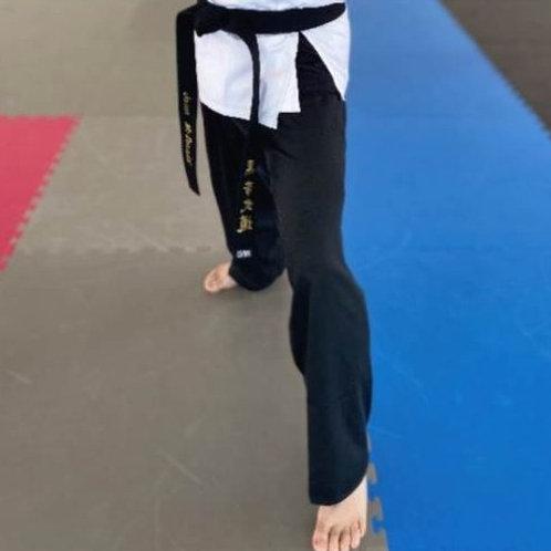BBMA Student White/Black Gi Pants