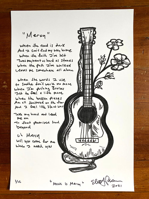 """""""Music Is Mercy"""" Limited Edition Print"""