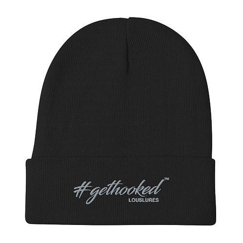 Get Hooked Embroidered Beanie
