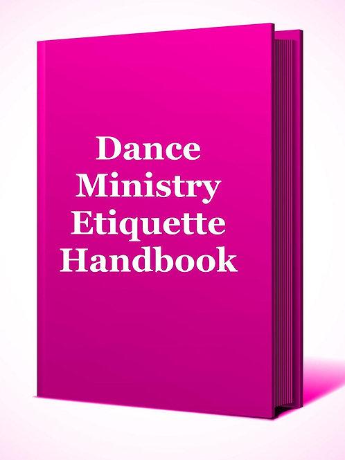 Dance Ministry Etiquette Handbook