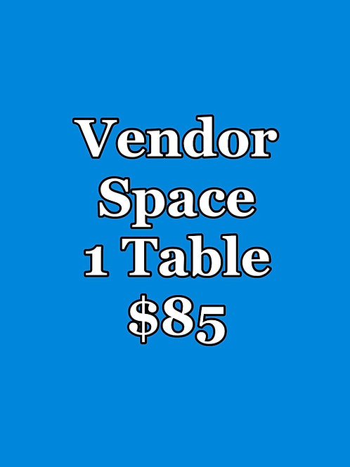1 Table Vendor Space for Returning to Holiness