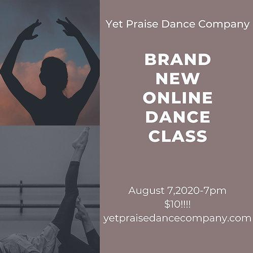 August 7, 2020 Dance Class