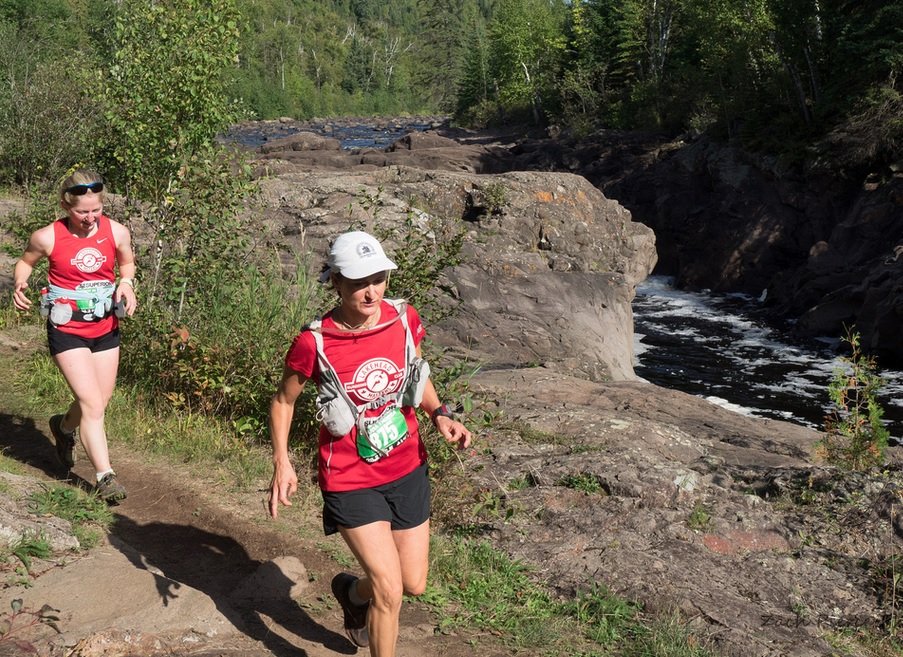 Rosie&Claudia_Superior Fall Trail Marathon_2015