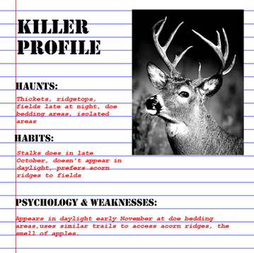 Profiling a Killer (Buck) - flipping the odds in your favor this hunting season.