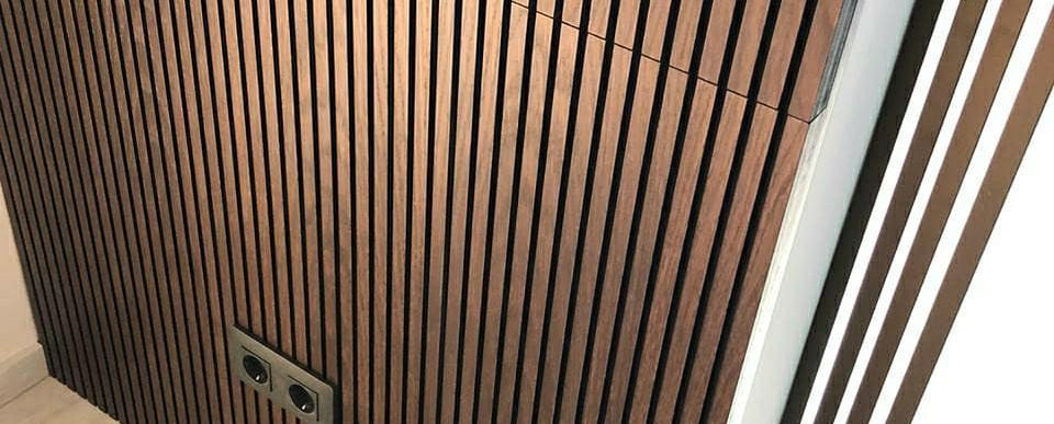 Individual Walnut Wall
