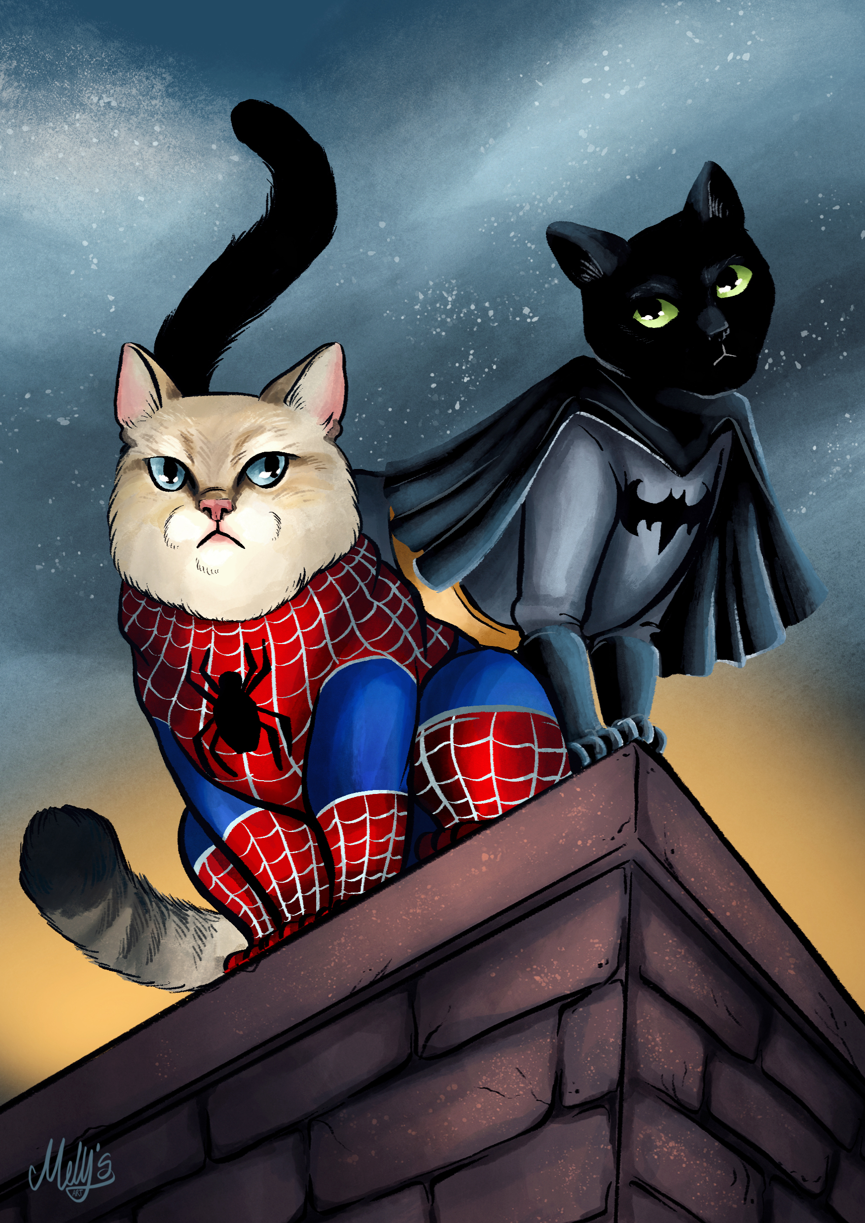 Cat Super Hero Portraits