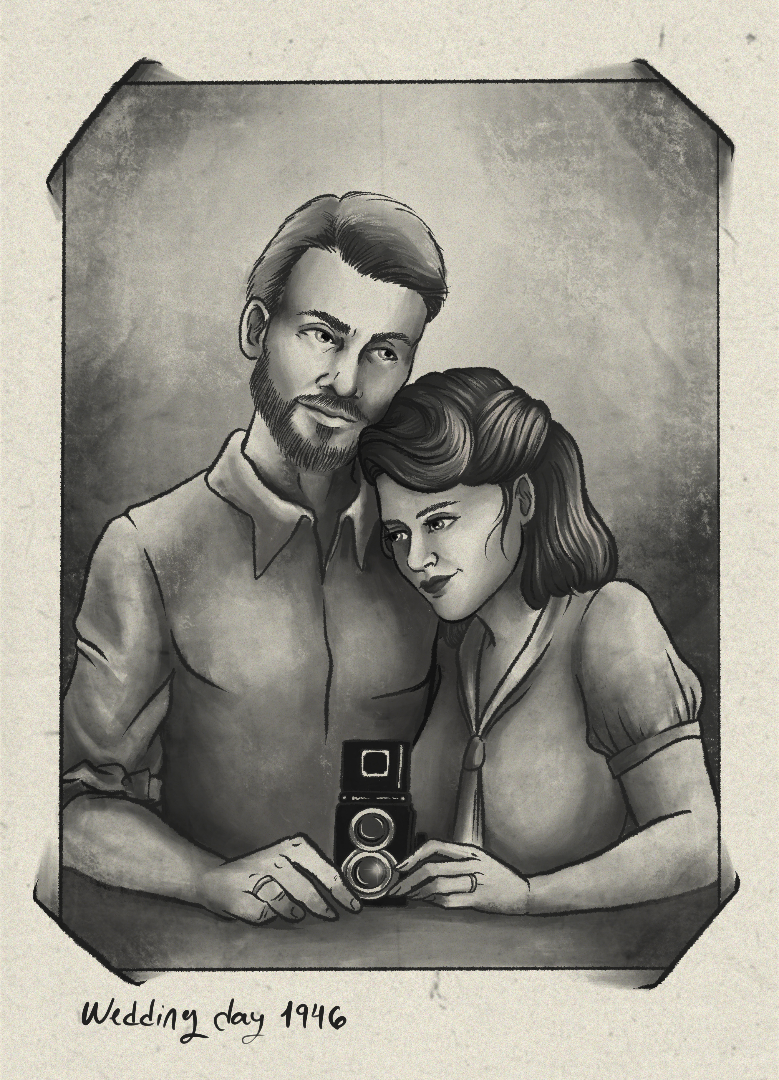 Peggy Carter and Steve Rogers Fanart