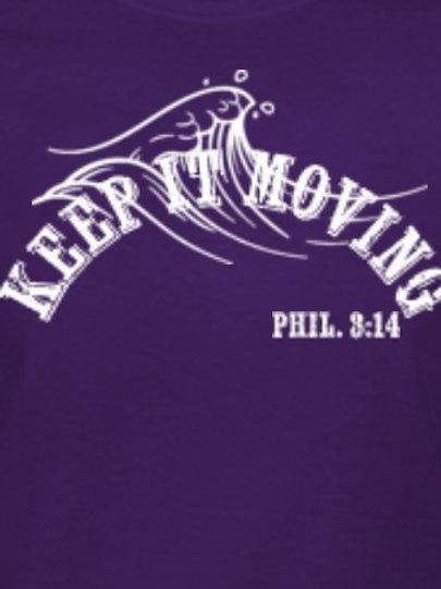 Purple Keep it Moving T-Shirt