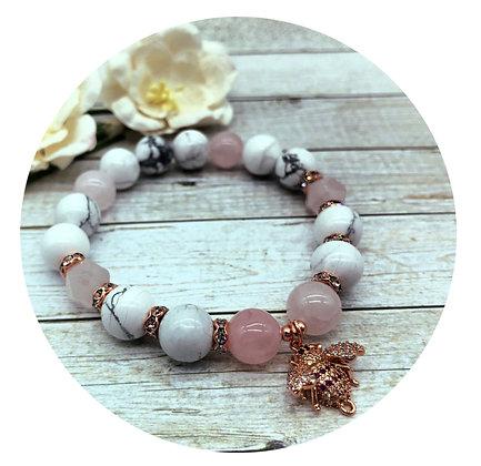 howlite rose quartz gemstone jewellery
