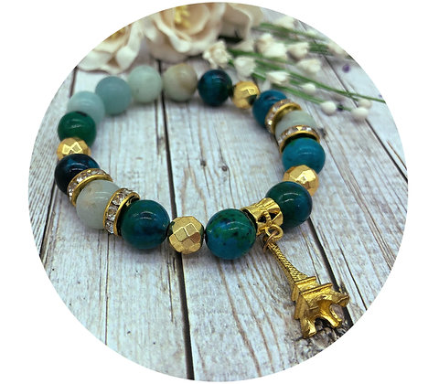 chrysocolla gemstone jewellery