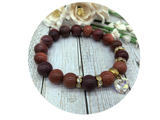 goldstone mookaite gemstone jewellery