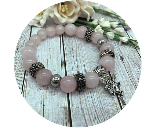 rose quartz gemstone jewellery